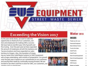 SWS Winter 2018 Newsletter
